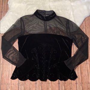 Dressbarn Collection Black Evening Blouse